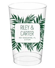 Palm Leaves Clear Plastic Cups