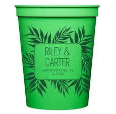 Palm Leaves Stadium Cups