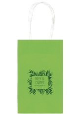 Palm Leaves Medium Twisted Handled Bags