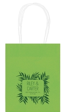 Palm Leaves Mini Twisted Handled Bags