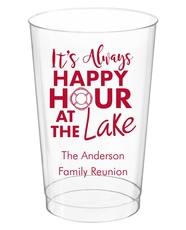 Happy Hour at the Lake Clear Plastic Cups