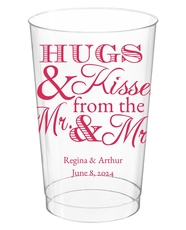 Hugs and Kisses Clear Plastic Cups