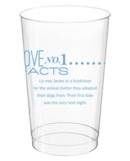 Just the Love Facts Clear Plastic Cups