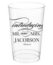Introducing Mr and Mrs Clear Plastic Cups