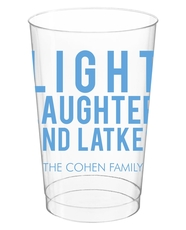 Light Laughter And Latkes Clear Plastic Cups