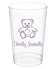 Little Teddy Bear Clear Plastic Cups