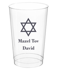 Traditional Star of David Clear Plastic Cups