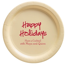 Studio Happy Holidays Paper Plates
