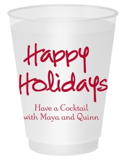 Studio Happy Holidays Shatterproof Cups