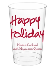 Studio Happy Holidays Clear Plastic Cups