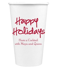 Studio Happy Holidays Paper Coffee Cups