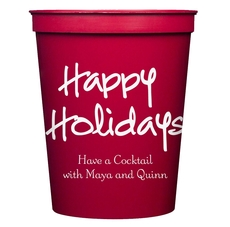 Studio Happy Holidays Stadium Cups