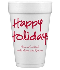 Studio Happy Holidays Styrofoam Cups