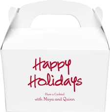 Studio Happy Holidays Gable Favor Boxes