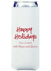Studio Happy Holidays Collapsible Slim Koozies
