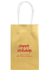 Studio Happy Holidays Medium Twisted Handled Bags