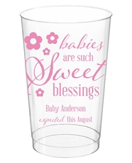 Sweet Blessings Clear Plastic Cups