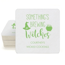 Something's Brewing Witches Square Coasters