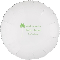Palm Tree Silhouette Mylar Balloons