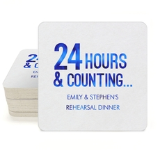 24 Hours and Counting Square Coasters
