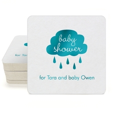 Baby Shower Cloud Square Coasters