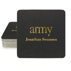 Big Word Army Square Coasters