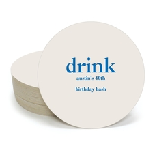 Big Word Drink Round Coasters
