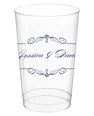 Bellissimo Scrolled Clear Plastic Cups
