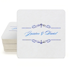 Bellissimo Scrolled Square Coasters