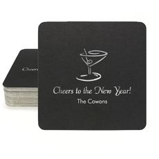 Classic Martini Square Coasters