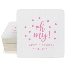 Confetti Dots Oh My Square Coasters