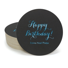 Darling Happy Birthday Round Coasters