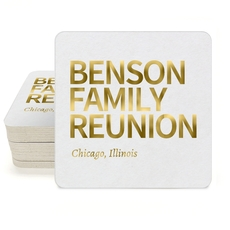 Create Your Own Headline Square Coasters