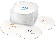 Design Your Own Big Number Round Coasters