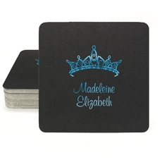 Diamond Crown Square Coasters