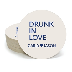 Drunk In Love Round Coasters