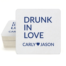 Drunk In Love Square Coasters