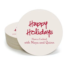 Studio Happy Holidays Round Coasters