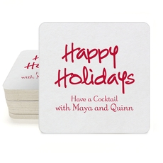 Studio Happy Holidays Square Coasters