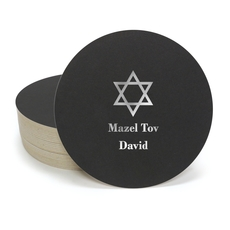 Traditional Star of David Round Coasters