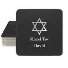 Traditional Star of David Square Coasters