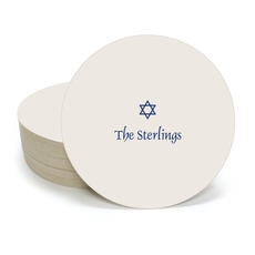 Little Star of David Round Coasters