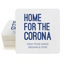 Home For The Corona Square Coasters