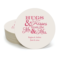 Hugs and Kisses Round Coasters