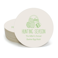 Hunting Season Easter Round Coasters