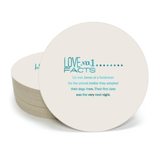 Just the Love Facts Round Coasters
