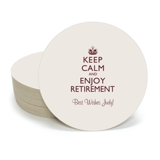 Keep Calm and Enjoy Retirement Round Coasters
