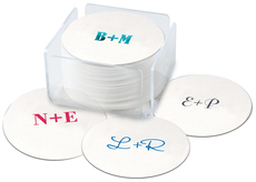 Large Initials Round Coasters