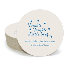Twinkle Twinkle Little Star Round Coasters