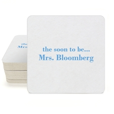 Soon to be Mrs Square Coasters